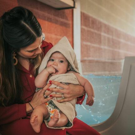 Baby floaten bij De Babybubbel